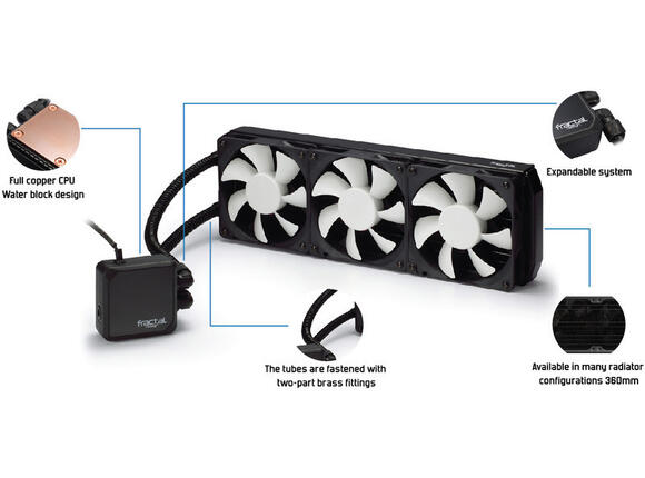 Fan Fractal Design KELVIN Kelvin S36 Water Cooling - 2