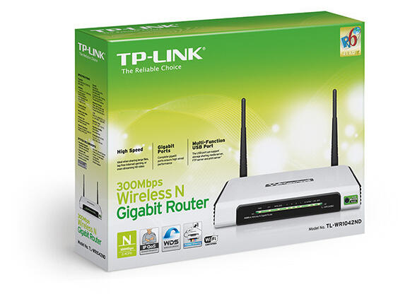 Рутер TP-Link TL-WR1042ND 300Mbps - 3