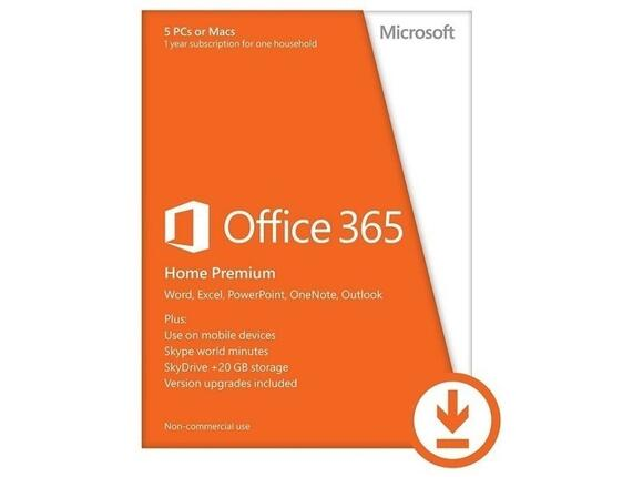 Софтуер Office 365 Home Premium 32-bit/x64 English Subscr 1YR Eurozone Medialess
