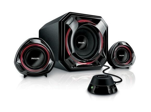 Тонколони Philips PHILIPS 2.1 Channel Speakers, 100W MPO, Digital Bass Boost, Bass Reflex, Analogue Volume Control, Fixed Wires