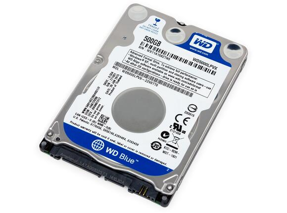 "Твърд диск Western Digital HDD 500GB WD Blue 2.5""  SATAIII 8MB  7mm slim"