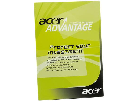 Разширена гаранция Acer 3Y Warranty Extension for Acer Laptops