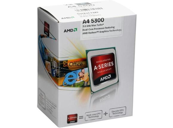Процесор AMD A4-5300 (up to 3.6 GHz, 1MB Cache)