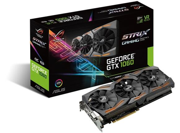 Видеокарта ASUS STRIX GeForce GTX1060-6G-GAMING