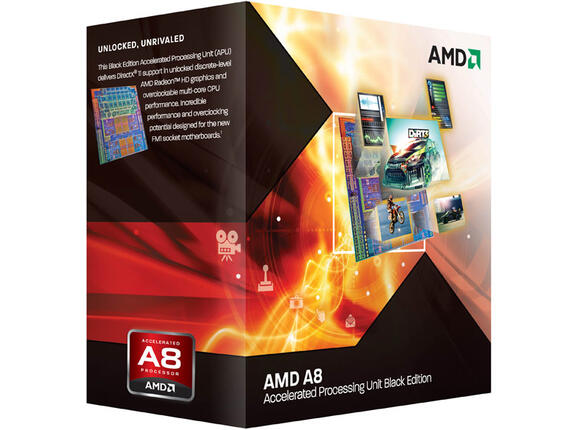 Процесор AMD A8-3870K (4MB, 3.0GHz) Black Edition