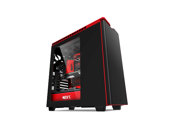Кутия NZXT H440, Mid Tower, Matte Black and Gloss Red