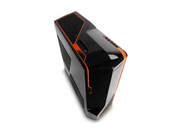 Кутия NZXT Phantom Full-Sized Tower Glossy Black + Orange