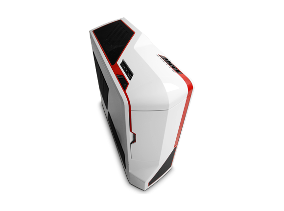 Кутия NZXT PHANTOM, Full Tower, White with Red Stripes