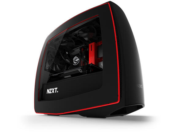 Кутия NZXT Manta Matte Black + Red