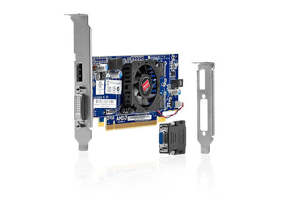 Видеокарта HP AMD Radeon HD 7450 DP PCIe x16 Crd, 1 GB, DDR3