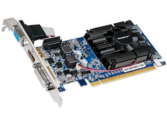 Видеокарта GIGABYTE GeForce 210 N210D3-1GI (1 GB DDR3)