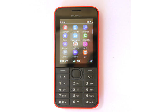 Смартфон Мобилен телефон NOKIA 208.1 NV BG RED - 2