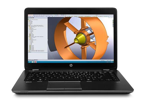 "Лаптоп HP ZBook 14 Mobile Workstation, I7-4600U, 14"", 8GB,180GB, Win 7 Pro 64"