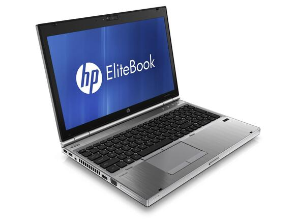 "Лаптоп HP EliteBook 8570p i7-3520M, 15.6"", 4 GB, 256 GB, Windows 7"