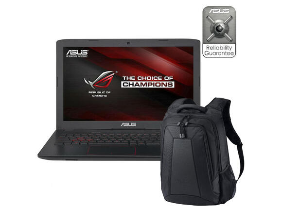 "Лаптоп ASUS G552VW-CN287D, i7-6700HQ, 15.6"", 16GB, 1TB + подарък раница ASUS ROG G73 Backpack - 2"