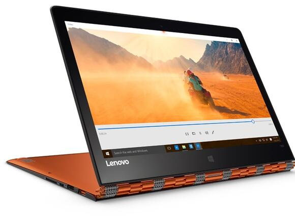 "Лаптоп Лаптоп Lenovo Yoga900-13ISK2 Clementine Orange /80UE009NBM/, i5-6260U, 13.3"", 8GB, 256GB, Win 10"