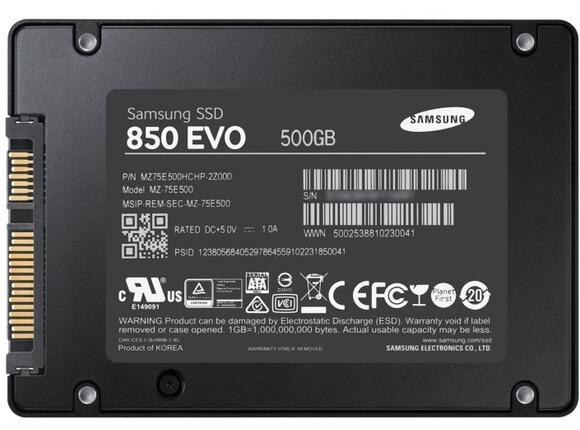 "SSD Samsung SSD 850 EVO Int. 2.5"" 500GB Starter KIT Read 540 MB/sec - 3"