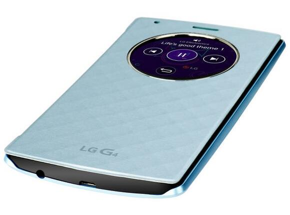 Калъф LG Quick Circle Replacement Case G4 Blue - 5