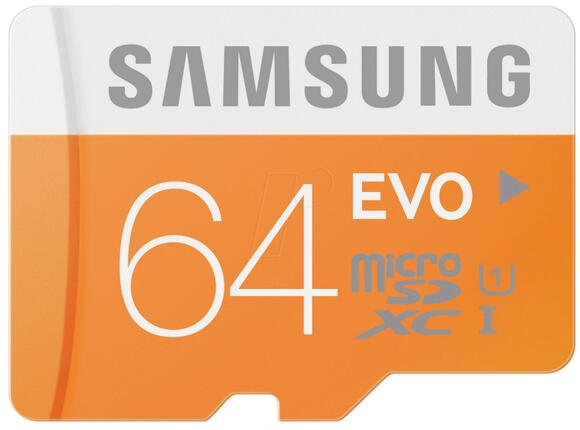 Флаш карта Samsung 64GB micro SD Card EVO with USB2 Adapter Class10