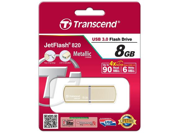 Флаш памет Transcend 8GB JETFLASH 820 - 3
