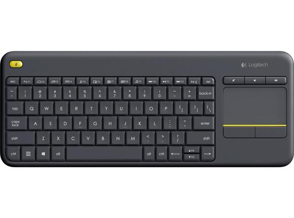 Клавиатура Logitech Wireless Touch Keyboard K400 Plus Black - 2