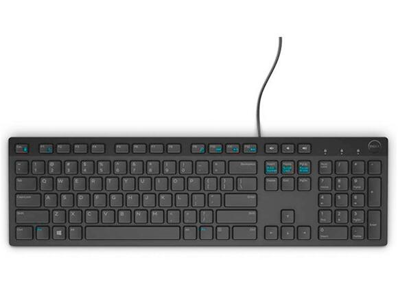Клавиатура Dell KB216 Wired Multimedia Keyboard Bulgarian Black - 3