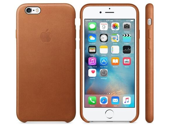 Калъф Apple iPhone 6s Leather Case - Saddle Brown