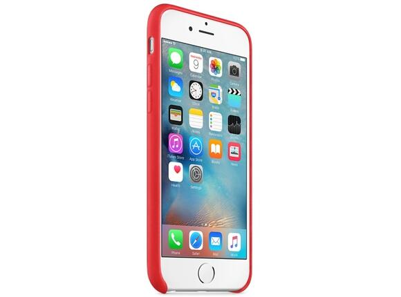 Калъф Apple iPhone 6s Leather Case - Red - 3