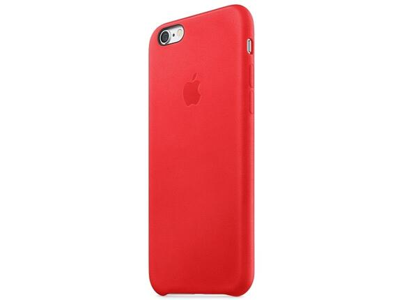 Калъф Apple iPhone 6s Leather Case - Red - 4