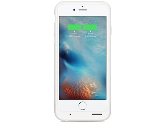 Калъф Apple iPhone 6s Smart Battery Case - White - 4