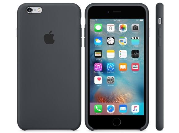 Калъф Apple iPhone 6s Plus Silicone Case - Charcoal Gray - 3