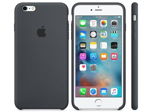 Калъф Apple iPhone 6s Plus Silicone Case - Charcoal Gray - 2