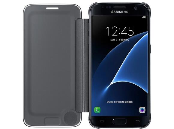 Калъф Samsung G930 ClearViewCover Black for GalaxyS7 - 3