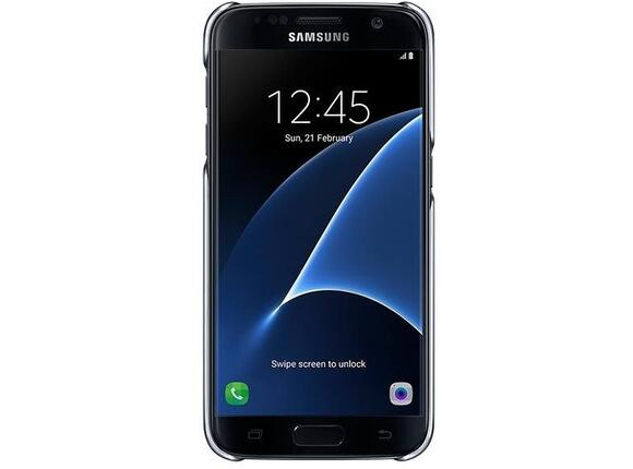 Калъф Samsung G930 ClearCover Black for GalaxyS7