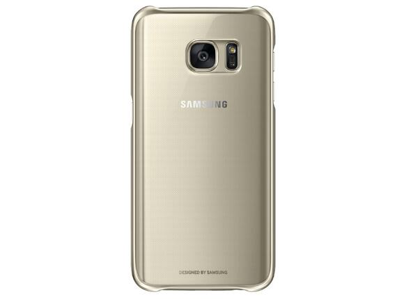 Калъф Samsung G930 ClearCover Gold for GalaxyS7