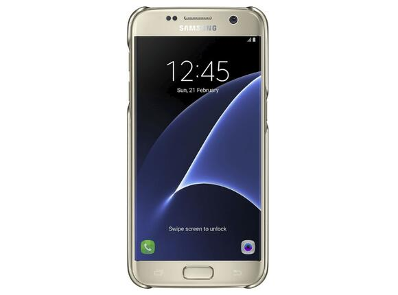 Калъф Samsung G930 ClearCover Gold for GalaxyS7 - 4