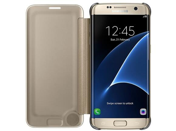 Калъф Samsung G935 ClearViewCover Gold for GalaxyS7 Edge - 3