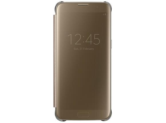 Калъф Samsung G935 ClearViewCover Gold for GalaxyS7 Edge