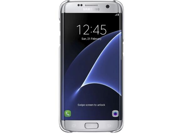 Калъф Samsung G935 ClearCover Silver for GalaxyS7 Edge - 5