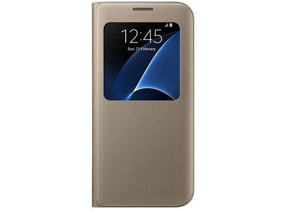 Калъф Samsung G935  SViewCover Gold for GalaxyS7 Edge