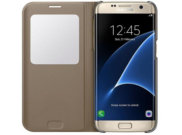 Калъф Samsung G935  SViewCover Gold for GalaxyS7 Edge - 3