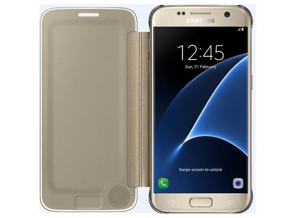 Калъф Samsung G930 ClearViewCover Gold for GalaxyS7 - 4
