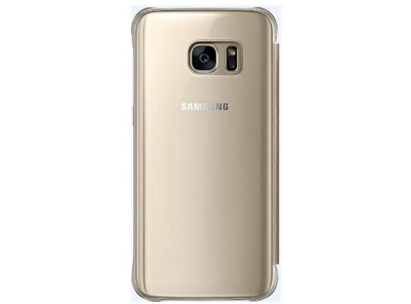 Калъф Samsung G930 ClearViewCover Gold for GalaxyS7 - 3