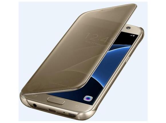Калъф Samsung G930 ClearViewCover Gold for GalaxyS7