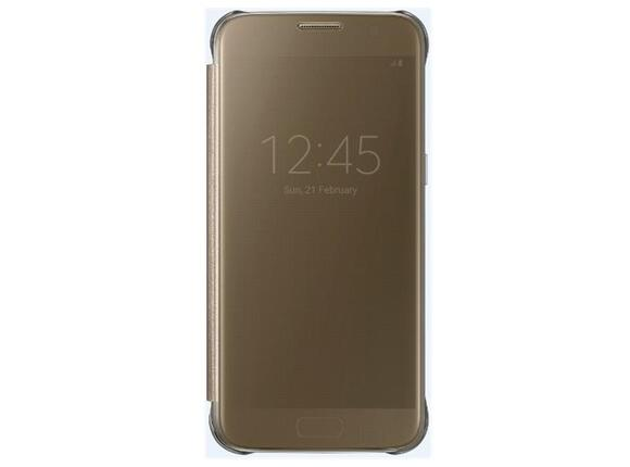 Калъф Samsung G930 ClearViewCover Gold for GalaxyS7 - 2