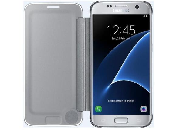 Калъф Samsung G930 ClearViewCover Silver for GalaxyS7 - 2