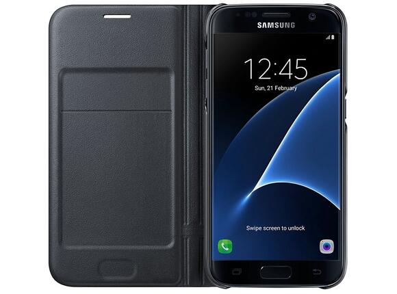 Калъф Samsung G930 LEDViewCover Black for GalaxyS7 - 3