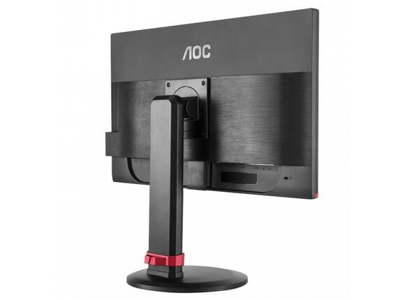 "Монитор AOC Монитор AOC 24"" LED 1920x1080 16:9 350cd 80M:1 Upto 1ms, USB x 4, Pivot, Black, 3 years - 6"