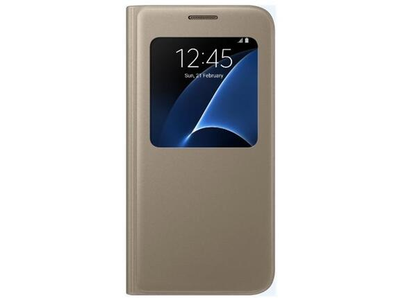 Калъф Samsung G930 SViewCover Gold for GalaxyS7 - 4