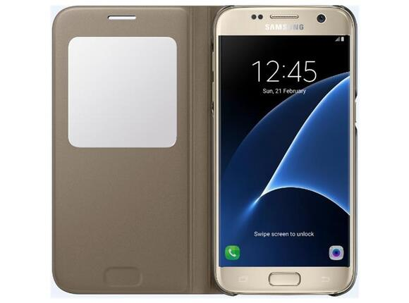 Калъф Samsung G930 SViewCover Gold for GalaxyS7 - 3
